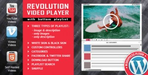 Revolution Video Player With Bottom Playlist v2.1