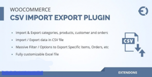 Woocommerce csv import export plugin v2.0.0 - orders, customers, products