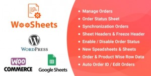 WooSheets v4.6 - Manage WooCommerce Orders with Google Spreadsheet