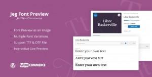 Jeg Font Preview v1.0.1 - WooCommerce Extension WordPress Plugin