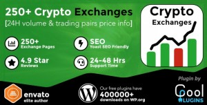 Cryptocurrency Exchanges List Pro v2.1.2 - WordPress Plugin