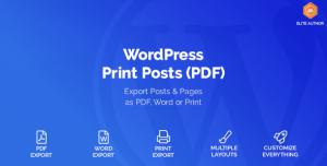 WordPress Print Posts & Pages (PDF) v1.5.1