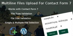 Multiline files upload for contact form 7 Pro v1.8
