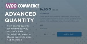 WooCommerce Advanced Quantity v3.0.0