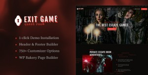 EXIT GAME V1.2.2 - REAL-LIFE ROOM ESCAPE WORDPRESS THEME