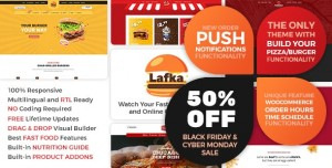 LAFKA V2.1 - WOOCOMMERCE THEME FOR BURGER PIZZA FAST FOOD DELIVERY & RESTAURANT