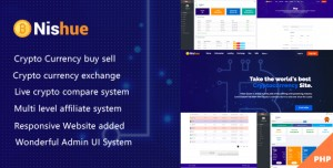 Nishue v1.9 - CryptoCurrency Buy Sell Exchange and Lending with MLM System