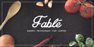 FABLE V1.2.4 - RESTAURANT BAKERY CAFE PUB WORDPRESS THEME