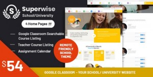SUPERWISE V2.9.1 - MODERN EDUCATION AND GOOGLE CLASSROOM WORDPRESS THEME