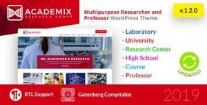 ACADEMIX V1.2.1 - MULTIPURPOSE EDUCATION, RESEARCHER AND PROFESSOR WORDPRESS THEME