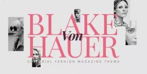 BLAKE VON HAUER V5.1 - EDITORIAL FASHION MAGAZINE THEME