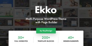 EKKO V2.2 - MULTI-PURPOSE WORDPRESS THEME WITH PAGE BUILDER