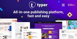 TYPER V1.9.2 - AMAZING BLOG AND MULTI AUTHOR PUBLISHING THEME