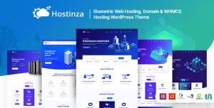 HOSTINZA V2.1 - ISOMETRIC DOMAIN & WHMCS WEB HOSTING WORDPRESS THEME