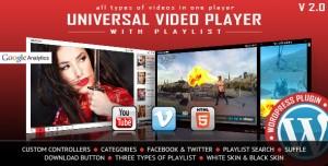 Universal Video Player v3.3.0 - WordPress Plugin