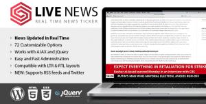 Live News v2.10 - Real Time News Ticker