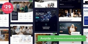 AVANTE V1.8 - BUSINESS CONSULTING WORDPRESS