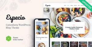 ESPECIO V1.0.1 - PERSONAL GUTENBERG FOOD BLOG WORDPRESS THEME
