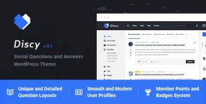 DISCY V4.2 - SOCIAL QUESTIONS AND ANSWERS WORDPRESS THEME