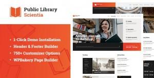 SCIENTIA V1.0.1 - PUBLIC LIBRARY & BOOK STORE EDUCATION WORDPRESS THEME