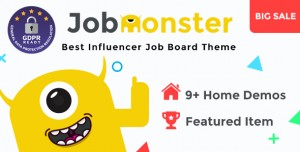 JOBMONSTER V4.6.2 - JOB BOARD WORDPRESS THEME