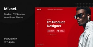 MIKAEL V1.0 - MODERN & CREATIVE CV/RESUME WORDPRESS THEME