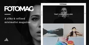 FOTOMAG V2.0.3 - A SILKY MINIMALIST BLOGGING MAGAZINE WORDPRESS THEME