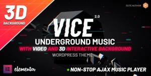 VICE V2.0.1 - UNDERGROUND MUSIC ELEMENTOR WORDPRESS THEME