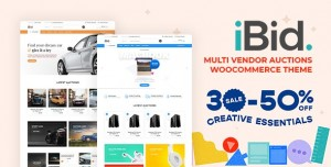 IBID V2.1 - MULTI VENDOR AUCTIONS WOOCOMMERCE THEME