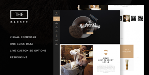 THE BARBER SHOP V1.8.3 - ONE PAGE THEME FOR HAIR SALON