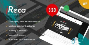 IRECA V1.2.4 - CAR RENTAL BOAT, BIKE, VEHICLE, CALENDAR WORDPRESS THEME