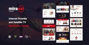 MIRASAT V1.0.7 - INTERNET PROVIDER AND SATELLITE TV WORDPRESS THEME