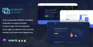 Bluerack - Modern and Professional Hosting WHMCS
