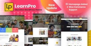 LEARNPRO V1.0 - ONLINE COURSE EDUCATION WORDPRESS THEME