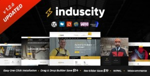 INDUSCITY V1.2.6 - FACTORY AND MANUFACTURING WORDPRESS THEME