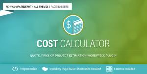 Cost Calculator v2.2.8 - WordPress Plugin