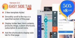 Easy Side Tab Pro v2.0.5 - Responsive Floating Tab Plugin For Wordpress