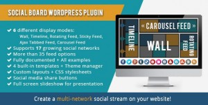 WordPress Social Board v3.7.9