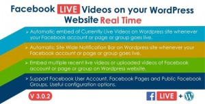 Facebook Live Video Auto Embed for WordPress v3.0.1