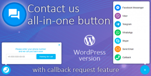 Contact us all-in-one button with callback v1.7.9 - Wordpress Plugin