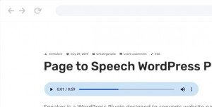 Speaker v2.1.1 - Page to Speech Plugin for WordPress