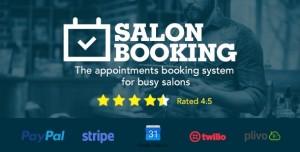 Salon Booking v3.3.7 - Wordpress Plugin