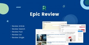 Epic Review v1.0.1 - WordPress Plugin & Add Ons for Elementor & WPBakery Page Builder