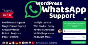 WordPress WhatsApp Support v1.9.7