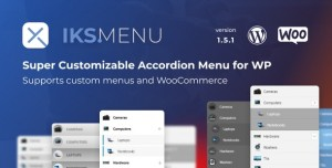Iks Menu v1.7.9 - Super Customizable Accordion Menu for WordPress