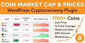 Coin Market Cap & Prices v3.7 - WordPress Cryptocurrency Plugin